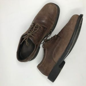 Rockport Distrssed Brown Leather Oxfords 10 M